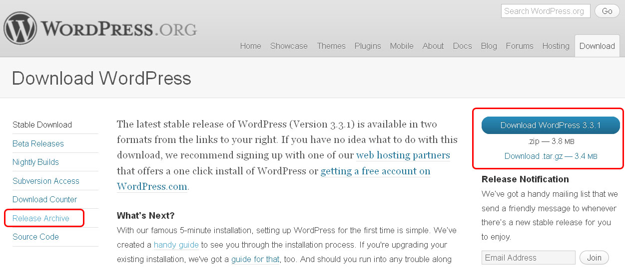 how to download wordpress org