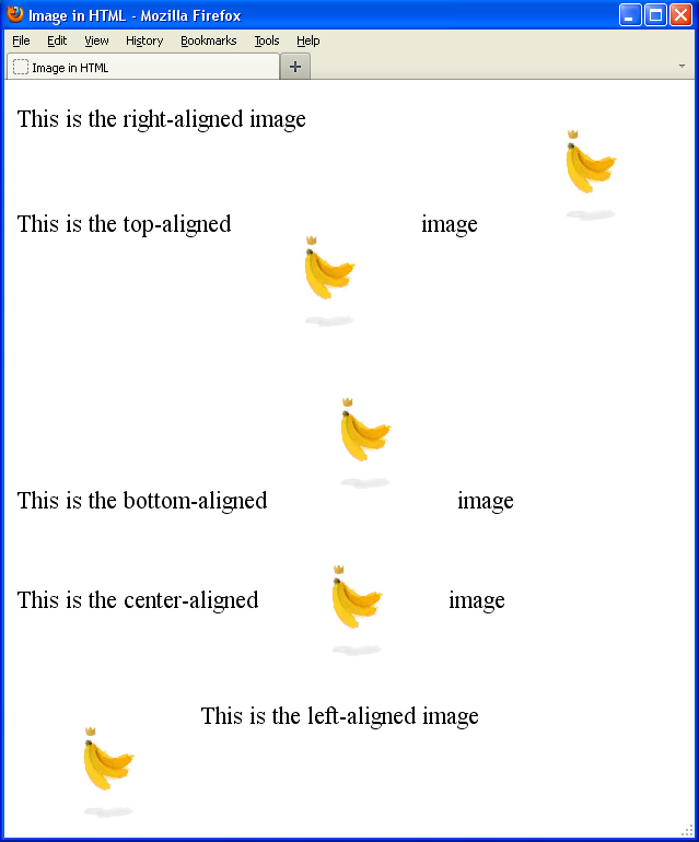Image gallery html img align for Html table align