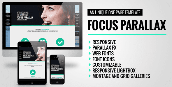Focus Parallax One Page HTML Template