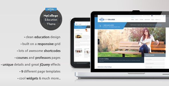 My College - Responsive Education HTML Template