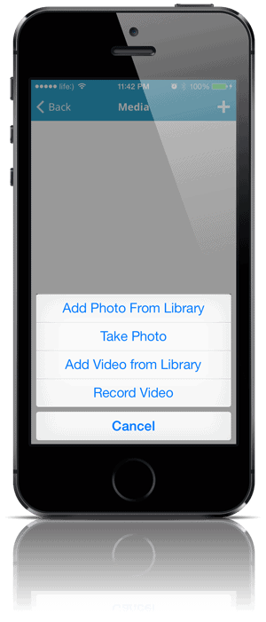 Add images and videos via WordPress iPhone