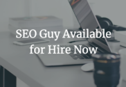 SEO guy available for hire now