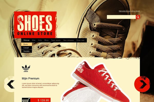 united kingdom 50% off popular brand Website Designs for Shoe and Shoelace Stores