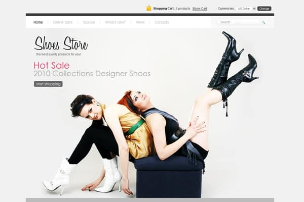 2b392b2b8ee Website Designs for Shoe and Shoelace Stores