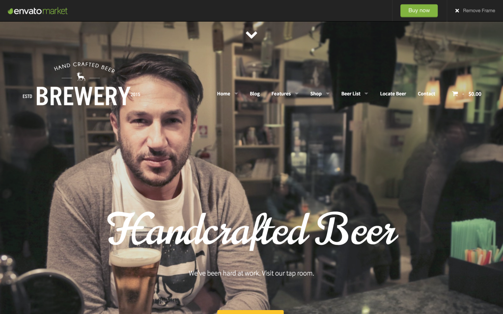 WordPress Theme for Beer Makers