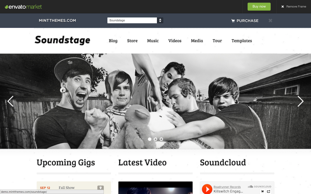 Soundstage - WordPress Theme For Bands/Musicians