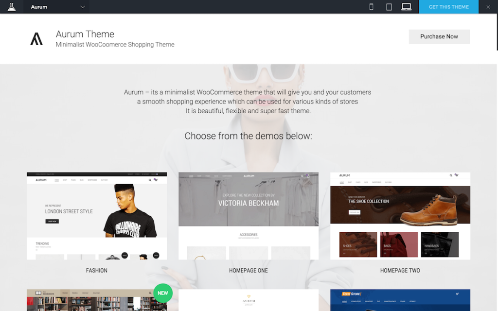 Aurum - Minimalist Shopping Theme
