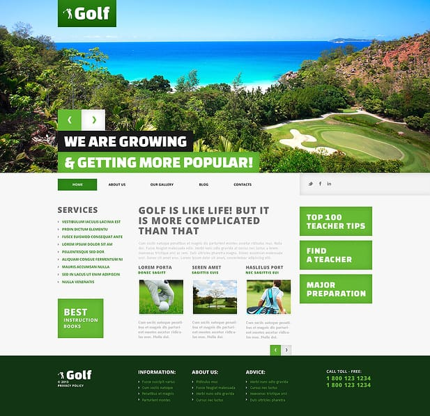 Golf Website Designs-5
