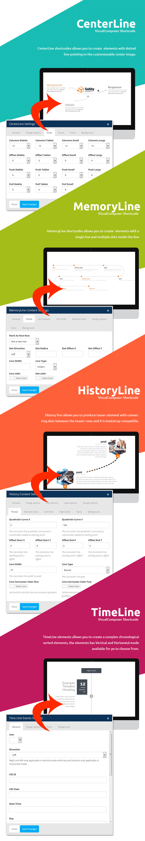 VisualLine Visual Composer Timeline Addons Pack