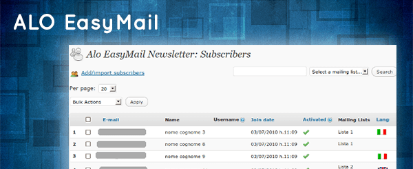 ALO EasyMail - WordPress email marketing plugin
