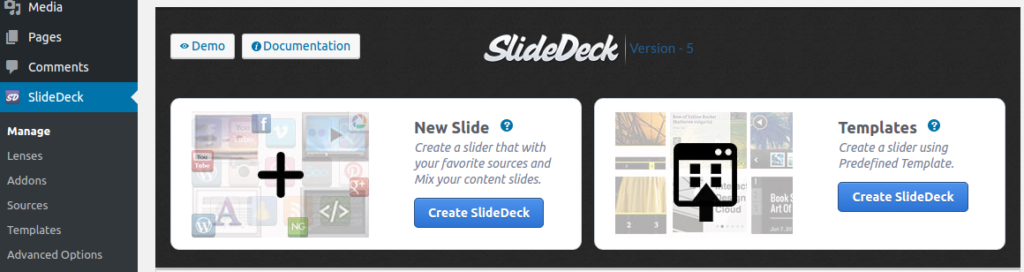 SlideDeck Dynamic Source and custom content